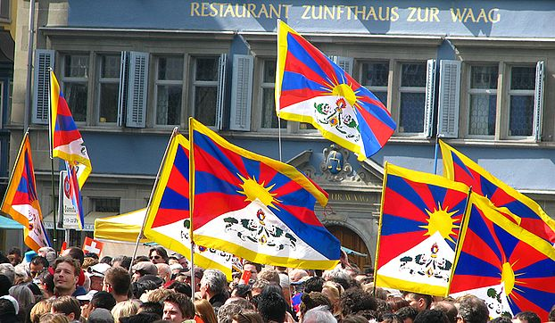 Tibetan Flags in Zurich